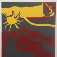 Arte: FRANCISCO BORES / FEDERICO GARCÍA LORCA: LLANTO POR IGNACIO SANCHEZ MEJÍAS, 1964 / LINÓLEO. Lote 52752957