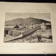 Arte: P1 - ILUSTRACION CANTABRICA. FERROL. VISTA DEL CASTILLO DE LA PALMA. GALICIA.. Lote 52862274
