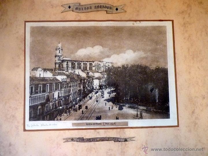 EXCEPCIONAL GRABADO AL COBRE MÁLAGA ANTIGUA (Arte - Grabados - Contemporáneos siglo XX)