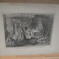 Arte: LA BAPTEME ADMINISTRE - GRABADO BERNARD PICART - 1723. Lote 53059229