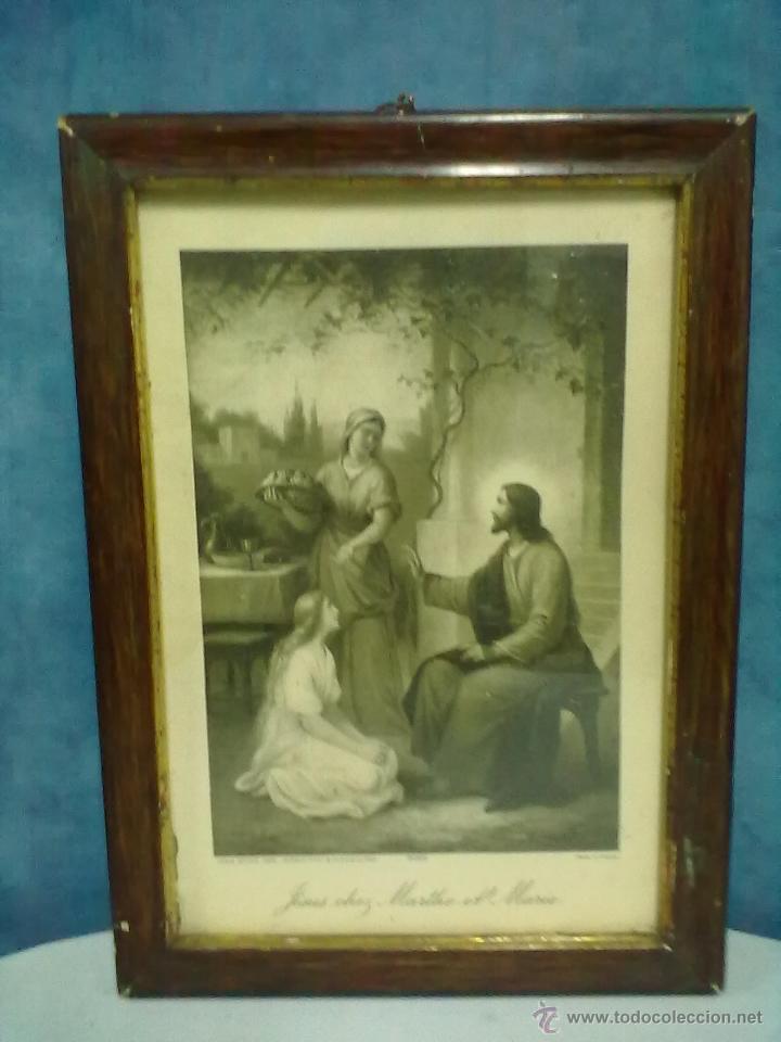 jesus chef marthe et marie enmarcado con crista - Comprar Grabados ...