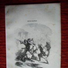 Arte: 1855-SANCHO EL GRANDE DE NAVARRA. PUBLICACIÓN: LOS HÉROES Y MARAVILLAS DEL MUNDO. GRABADO ORIGINAL. Lote 53142436