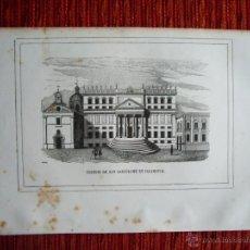 Arte: 1855-COLEGIO DE SAN BARTOLOME EN SALAMANCA. HÉROES Y MARAVILLAS DEL MUNDO. GRABADO ORIGINAL. Lote 53142893