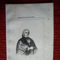 Arte: 1855-PEDRO CAMPOMANES.SORRIBAS TINEO MADRID. HÉROES Y MARAVILLAS DEL MUNDO. GRABADO ORIGINAL. Lote 53143218
