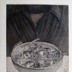 Arte: GRABADO AGUAFUERTE FIRMADO JENS RUSCH. Lote 53207258