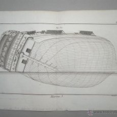 Arte: MARINE III, 1780.DIDEROT. Lote 53221516