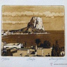 Arte: GRABADO DE LA LOCALIDAD ALICANTINA DE CALPE DE J.Mª DEL VALLE BOURGON. Lote 53264118