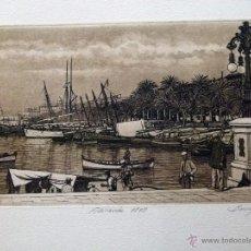 Arte: GRABADO DE ALICANTE 1890 OBRA DE J.Mª DEL VALLE BOURGON. Lote 53264594
