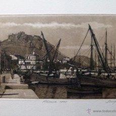 Arte: GRABADO DE ALICANTE 1890 OBRA DE J.Mª DEL VALLE BOURGON. Lote 125975812