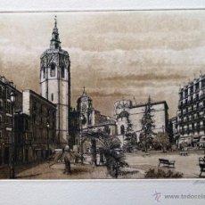 Arte: GRABADO DE VALENCIA OBRA DE J.Mª DEL VALLE BOURGON. Lote 53264754