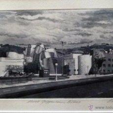 Arte: GRABADO DE BILBAO MUSEO GUGGENHEIM OBRA DE J.Mª DEL VALLE BOURGON. Lote 53264797