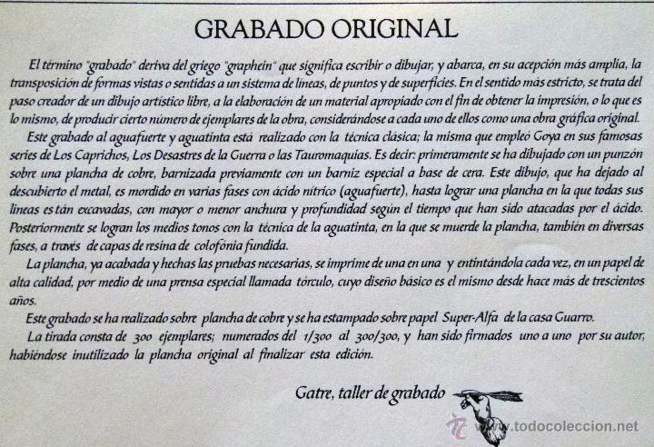 Arte: Grabado de Bilbao Museo Guggenheim obra de J.Mª del Valle Bourgon - Foto 4 - 53264816