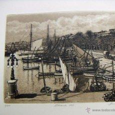 Arte: GRABADO DE ALICANTE OBRA DE J.Mª DEL VALLE BOURGON. Lote 53269515