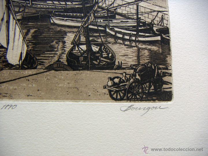 Arte: Grabado de Alicante obra de J.Mª del Valle Bourgon - Foto 4 - 53269515