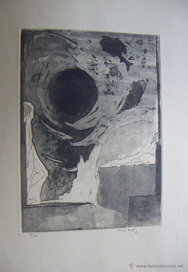 GRABADO DE PILAR FONT 1972 (Arte - Grabados - Contemporáneos siglo XX)