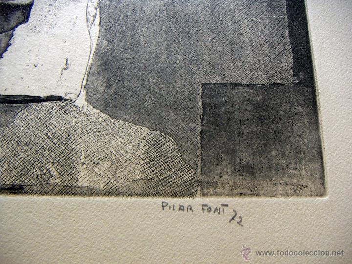 Arte: Grabado de Pilar Font 1972 - Foto 4 - 53270515