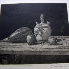 Arte: GRABADO FIRMADO JENS RUSCH. Lote 53270716