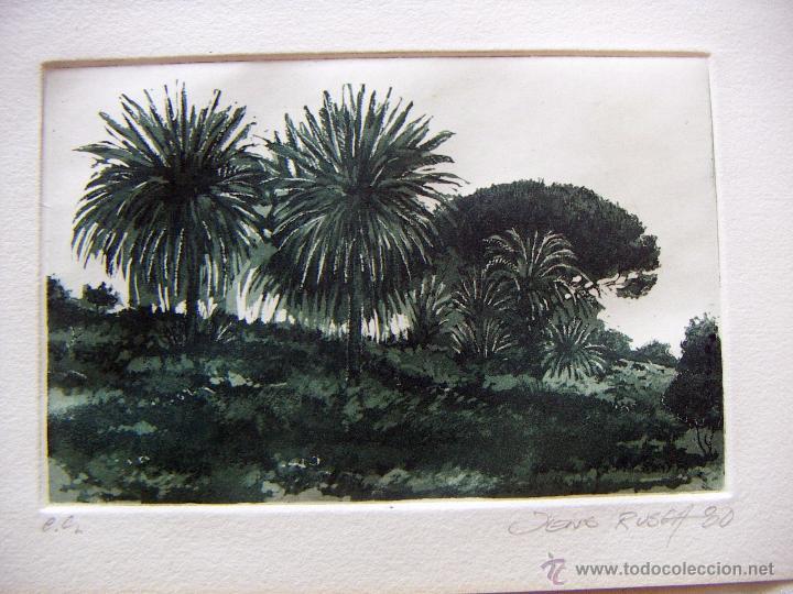 GRABADO AGUAFUERTE FIRMADO JENS RUSCH (Arte - Grabados - Contemporáneos siglo XX)