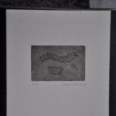 Arte: JUAN CEYLES DOMINGUEZ AGUAFUERTE ORIGINAL , MÁLAGA , FIRMADO Y CON JUSTIFICACION DE TIRADA. Lote 53339142