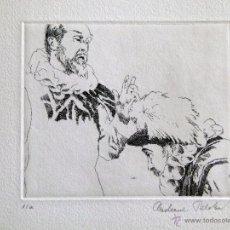 Arte: GRABADO ORIGINAL DE EBERHARD SCHLOTTER TEMA EL QUIJOTE. Lote 53344746
