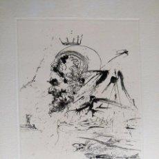 Arte: GRABADO ORIGINAL DE SALVADOR DALI LA VIDA ES SUEÑO ESTUDIO PARA UN SUEÑO. Lote 88985032