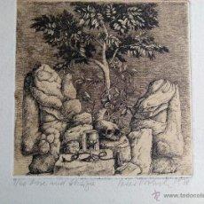 Arte: GRABADO ORIGINAL DE PETER PROKSCH TITULO ROSA Y ACACIA. Lote 53355451