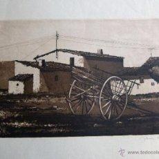 Arte: GRABADO AGUAFUERTE FIRMADO JENS RUSCH. Lote 53356165