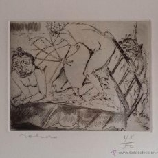 Arte: GRABADO ERÓTICO EXPRESIONISTA A LA PUNTA SECA. Lote 53384280