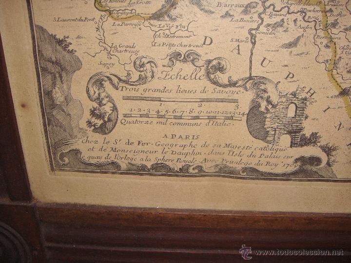 Arte: Antiguo Grabado. Saboye - 1709. Marco de caoba. (59 cm x 72 cm) - Foto 4 - 53421952