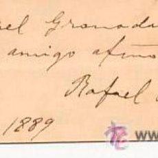 Arte: GRABADO CON RETRATO DEL POETA ARGENTINA RAFAEL OBLIGADO.DEDICADO Y FIRMADO POR EL AUTOR.1889. Lote 53485809