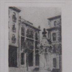 Arte: GRABADO FIRMADO ALBERT. CIUDAD DESCONOCIDA. Lote 53580991