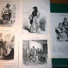 Arte: 10 GRABADOS DE TIPOS ESPAÑOLES. 1875. Lote 53696736