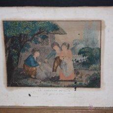 Arte: GRABADO ILUMINADO DEL SIGLO XIX. LES ENFANTS JOYEUX. Lote 53780970