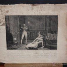 Arte: GRABADO DEL SIGLO XIX, TITULADO DIVORCE DE NAPOLEON ET DE JOSEPHINE. Lote 53797276