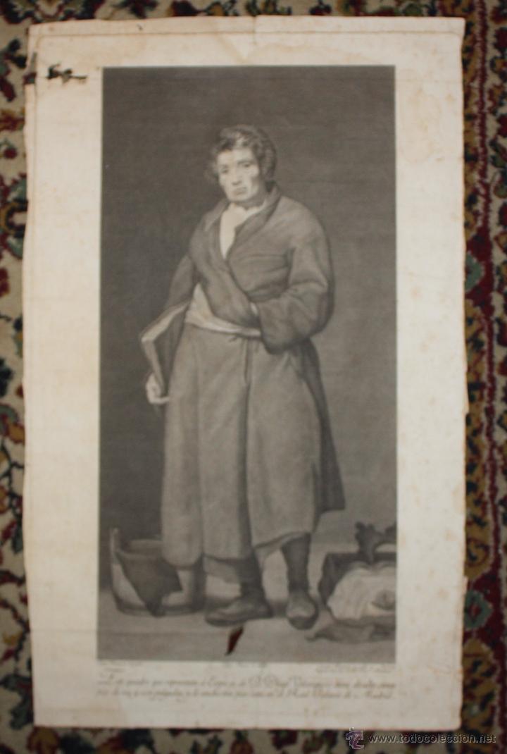 ESOPO DE DIEGO VELAZQUEZ. GRABADO DEL SIGLO XVIII (Arte - Grabados - Antiguos hasta el siglo XVIII)