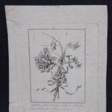 Arte: GRABADO DE FINALES DE SIGLO XVIII. RAMO DE FLORES. Lote 53801532