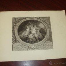 """Arte: GRABADO ORIGINAL """"LA GAYETÉ DE SILENE"""" POR DE LAUNAY, PARIS. AGUAFUERTE SOBRE PAPEL.SXIX.. Lote 53880819"""