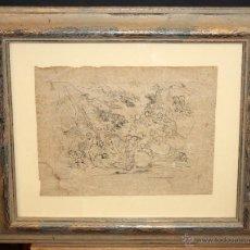 Arte: PIETRO TESTA (1611-1650) GRABADO DEL SIGLO XVII TITULADO IN ROMA DA VINCENZO BILLY. Lote 53885174