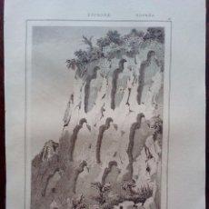 Arte: 1844 - NECROPOLIS SANT MIQUEL - OLERDOLA -BARCELONA-CATALUÑA-ESPAÑA-GRABADO ORIGINAL-DE U.PINTORESCO. Lote 53938811