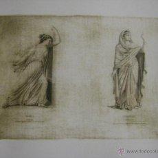 Arte: GRABADO FRANCÉS ACTUAL CON UNA PLANCHA DEL SIGLO XIX ORESTE Y SHOPHONISBE. Lote 53977717