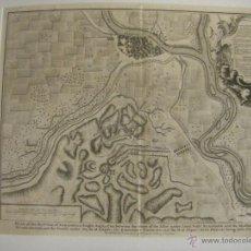Arte: MAPA DE ZARAGOZA PLANO BATALLA AÑO 1710 GUERRA DE SUCESIÓN ENTRE BORBONES Y AUSTRACISTAS. Lote 53977984