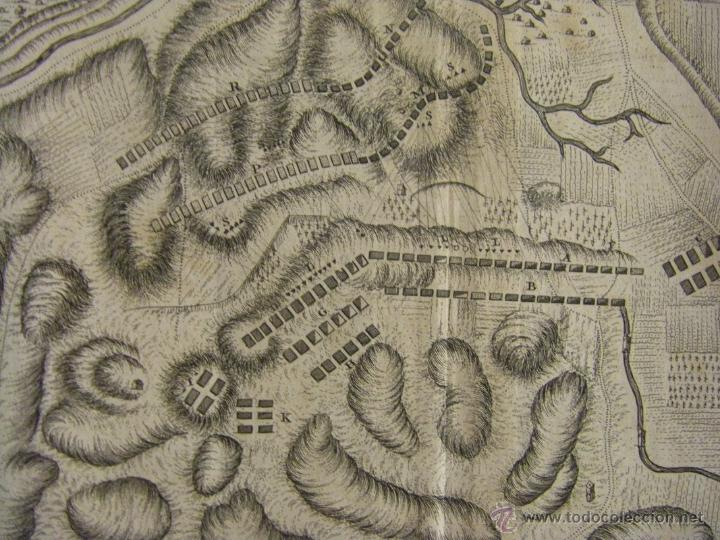 Arte: Mapa de Zaragoza plano batalla año 1710 Guerra de Sucesión entre Borbones y Austracistas - Foto 4 - 53977984