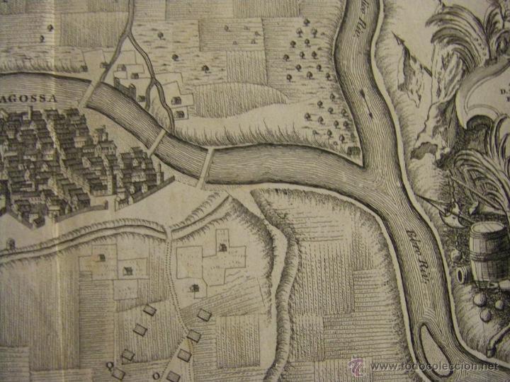Arte: Mapa de Zaragoza plano batalla año 1710 Guerra de Sucesión entre Borbones y Austracistas - Foto 5 - 53977984