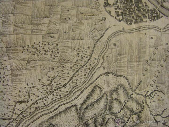Arte: Mapa de Zaragoza plano batalla año 1710 Guerra de Sucesión entre Borbones y Austracistas - Foto 11 - 53977984