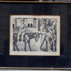 Arte: ISMAEL BALANYÀ (MONTBLANC 1921-2000) GRABADO 24X32CM. MARCO: 48X54CM.. Lote 54030977