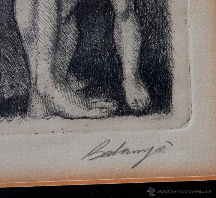 Arte: ISMAEL BALANYÀ (Montblanc 1921-2000) Grabado 24x32cm. Marco: 48x54cm. - Foto 2 - 54030977