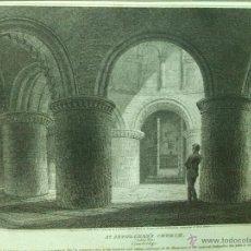 Arte: GRABADO SIGLO XIX 1805 APROX. IGLESIA DEL SANTO SEPULCRO EN CAMBRIDGE. Lote 54254815