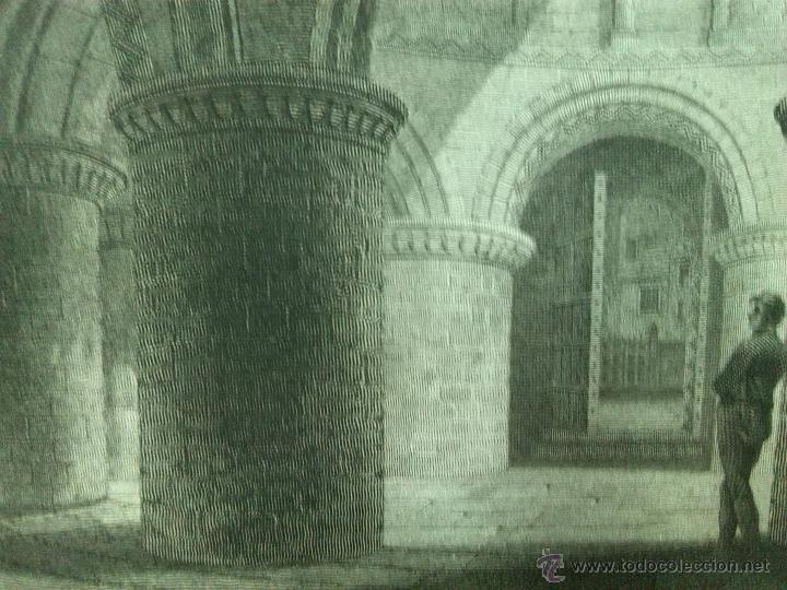 Arte: GRABADO SIGLO XIX 1805 APROX. IGLESIA DEL SANTO SEPULCRO EN CAMBRIDGE - Foto 2 - 54254815