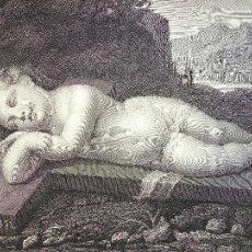 Arte: EGO DORMIO, ET COR MEUM VIGILAT, ORIGINAL 1817, P.M. GANDOLFI, 38 X 34 CM. Lote 54261799