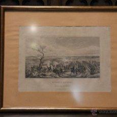Arte: ANTIGUO GRABADO BATALLA DE MONTMIRAIL - DIBUJADO POR HORACE VERNET - GRABADO POR COLIN - 1853 - . Lote 54291198